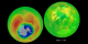 Ozone in the northern and southern hemisphere as measured by Earth Probe TOMS from 7-26-96 to 12-4-00.