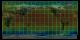 Volumetric global temperature on flat map (top view)