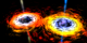 A closer look at the center of a spiral galaxy reveals a pair of black holes locked in a death spiral. When they merge, a massive amount of energy is released in the form of jets.
