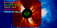 The expanding bubble of hot plasma expands into SOHO-LASCO C3 field of view just before bursting