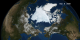 Animation of Arctic sea ice from January 1 to September 9, 2008 with dates.