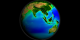 A print resolution picture of SeaWiFS global biosphere decadal average over Asia and Australia.
