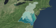 Chesapeake Bay Flyover and Watershed Region animation, without city and river labels