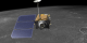 Here we follow LRO as it moves along it's orbit high above the lunar surface.
