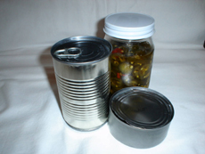 Photograph of canned foods