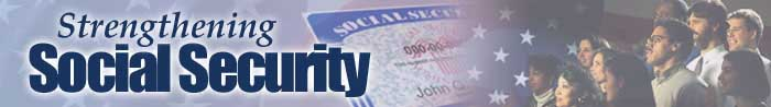 Strengthening Social Security banner