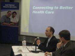 Deputy Secretary Troy meets with community leaders and stakeholders to discuss the Center for Medicare & Medicaid Services' five-year electronic health records demonstration project.
