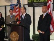 Deputy Secretary Troy Joins Mayor Fenty in Urging DC Residents to Get Influenza Vaccinations.