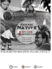 Poster for National Native HIV/AIDS Awareness Day.