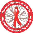 Logo for National Women and Girls HIV/AIDS Awareness Day.