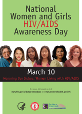 Nationa Women and Girls HIV/AIDS Awareness Day 2008 Poster