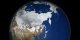 This animation shows a global rotation of seasonal changes in landcover.  Landcover fades from month to month, and is displayed at a rate of two months per second.