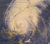 Hurricane Floyd from weather satellite
