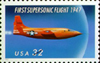 Stamp commemorating first supersonic flight