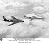 D-558-2 in flight with F-86 chase plane