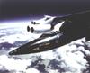 X-15 mounted to B-52 mothership pylon in flight
