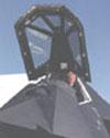 Lockheed's Ben Rich in an F-117