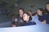 Korean air force cadets in a U.S. flight simulator