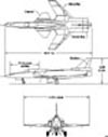 3 views of forward swept wing
