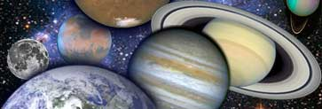 Banner for the Solar System section.