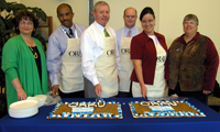 United Way cookie cutting