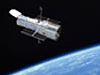 Image of the Hubble in orbit around Earth