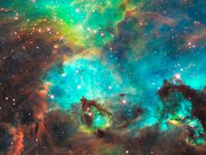 Image of nebula near star cluster NGC 2074