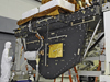 Engineers prepare the Super Lightweight Interchangeable Carrier (SLIC) for acoustics testing at Goddard