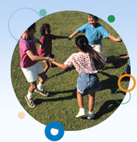 Image of four children playing in circle