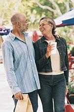 Image of a couple enjoy walking