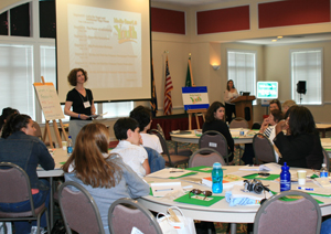 Participants learn about the We Can program at a regional training event