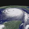 Satillite view of Hurricane Katrina, Aug 25, when it was a catagory 5 hurricane