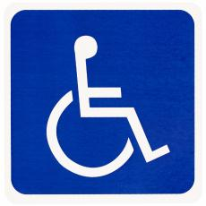 Photograph of a wheelchair symbol