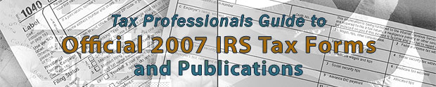 Tax Professionals Guide to Official 2006 IRS Tax Forms and Publications