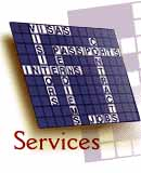 Link to Services page - clickable image is drawing of crossword puzzle