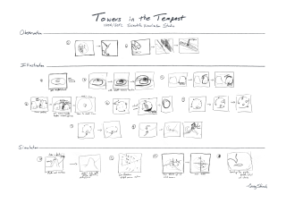 Storyboard composite based on original hand-drawn sketches (displayed at SIGGRAPH 2008)