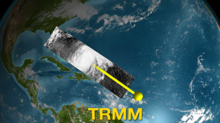 TRMM observes Hurricane Bonnie using the Visible and Infrared Sensor (VIRS)