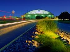 Night view of Glenn Research Center