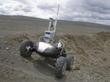 Autonomous Drilling Rover on sweeping dunes