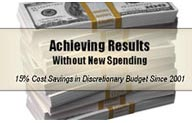 Achieving Results Without New Spending.