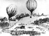 Night departure of a balloon during the Siege of Paris, 1870