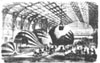 During the Siege of Paris in the Franco-Prussian War, 1870-1871, balloons were manufactured within railroad stations in Paris