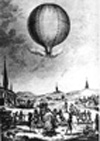 The first public balloon ascent, June 1783.