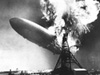Explosion of the Hindenburg, May 6, 1937, at Lakehurst, New Jersey