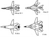 Wing sweep on different planes