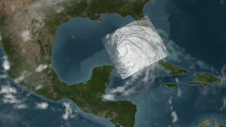 Hurricane Ike strengthens in the Gulf of Mexico on September 10, 2008.