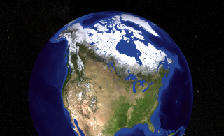 This image contains a view of the United States, Canada, and Greenland.