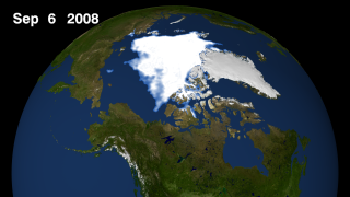 Arctic sea ice still for September 6, 2008