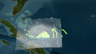 Tropical Storm Hanna pounded the Bahamas and Hispaniola with heaavy rains.