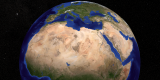 This image shows the 3 regions in North Africa: The Sahara, the Sahel, and the Sudan. The Sahel, a word derived from the Arabic 'sahil' meaning shore, is a semi-arid belt of barren, sandy and rock-strewn land which stretches 3,860km across the breadth of the African continent and marks the physical and cultural divide between the continent's more fertile south (the Sudan Region) and Saharan desert north.